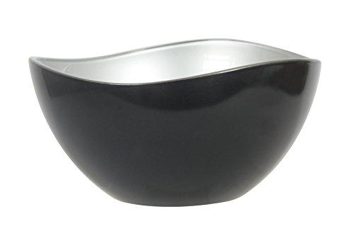 Novastyl 8013914 Saladier, Verre, Noir, 21 cm