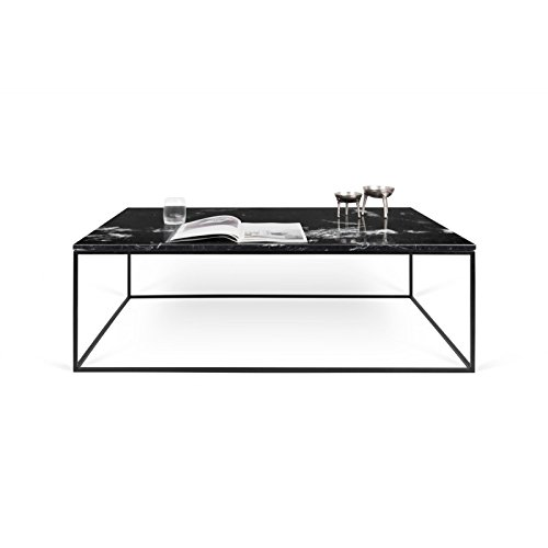 Paris Prix - Temahome - Table Basse Gleam 120cm Marbre Noir