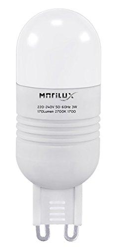 3W LED A+ MARILUX 170 Lumen BIRNE SPOT STRAHLER G9 LAMPE 2700K LEUCHTMITTEL WARMWEISS 3 W 170 Lumen-led