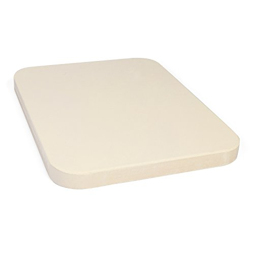 Rustler Rectangular Pizza Stone � Baking Stone 38 x 30 cm � Suitable for Ovens, Charcoal and Gas Grills � For Pizza, Tarts, Fresh Bread, Quiches and Cakes
