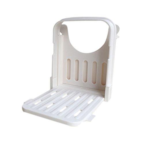 Slicer-board (BESTONZON Manuell Brotschneider Kunststoff Brot Toast Slicer Küche Loaf Slicer Cutter Form Schneiden Guide Board)