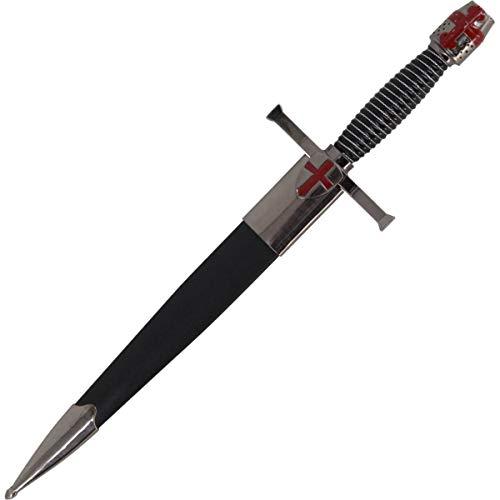 Unbekannt Ritter Dolch Mittelalter mit Helm Knauf