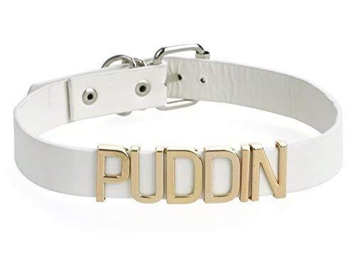 KeySmart Quinn Halsband mit Puddin Schriftzug (Niedlich Original Kostüm)