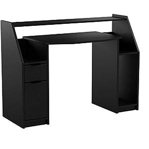 Vicco Computertisch Joel PC-Tisch Schwarz Gamingtisch Schreibtisch Büromöbel