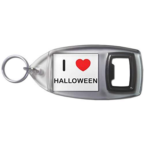BadgeBeast.co.uk I Love Heart Halloween - Schlüsselanhänger aus Kunststoff ()