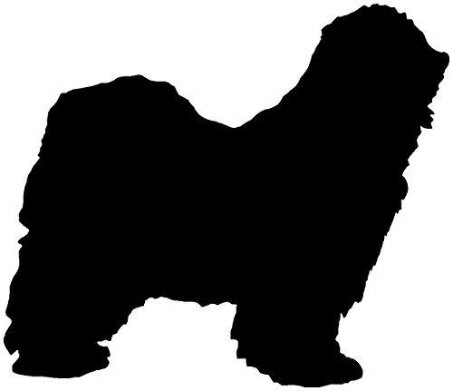 Samunshi® Tibet Terrier Hunde Aufkleber Autoaufkleber Sticker in 6 Größen und 25 Farben (15x12,9cm schwarz) -