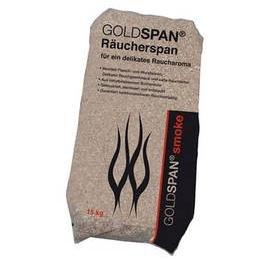 15kg  GOLDSPAN Smoke Räucherspäne (Körnung 20/160 3,0 - 10,0mm) Räuchern Buche Smoking Chips Räuchermehl Räucherholz