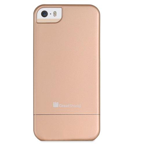 GreatShield iSlide Slim-Fit PolyCarbonate Hard coque pour Apple iPhone 5 (Gold) doré
