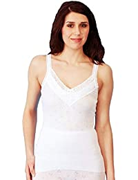 94f410d69 Ladies Thermal Sleeveless Camisole Vest Winter Underwear White