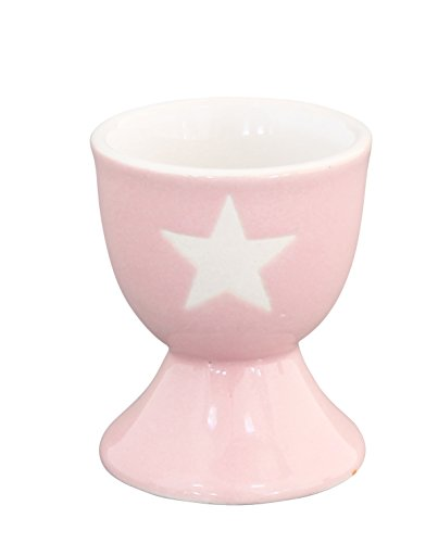 Krasilnikoff Egg holder - Eierbecher - Pink/Stern weiß