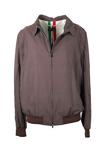 Preisvergleich Produktbild Kiton CL Checked Brown Coat Jacket Size 58 / 48R U.S. in Silk