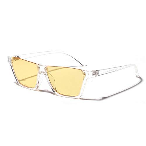 ZRTYJ Sonnenbrille Halbrandlose Sonnenbrille Damenmode Punk Sonnenbrille HerrenMarkenbrillenRechteck CoolGafas De Sol Mujer
