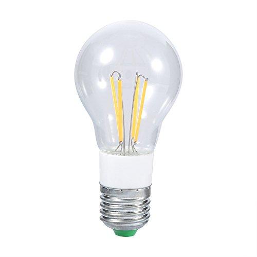 GLOGLOW 3W 4W 6W 220V führte Glühfadenbirne, Dimmable-Leuchter-Glühlampe-Weinlese-Art-Ersatz-Edison-Lampen-Birne(4W Warmweiß)