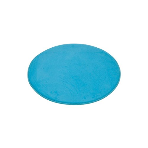 DOUCEUR D'INTERIEUR 6GMB270BL Vitaminas - Alfombra de baño, poliéster, Redondo, 60 x 60 x 1 cm, Azul Marino