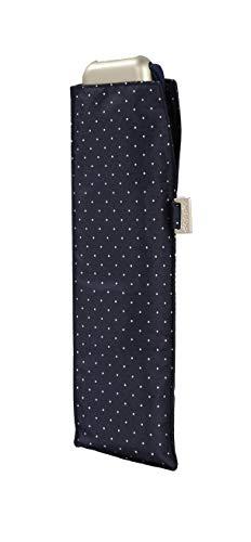 doppler Taschenschirm Carbonsteel Mini Slim Chic - Flaches Format -Windkanal getestet - 22 cm - Blau