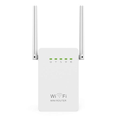 DJG Drahtloser Signalverstärker, Netzwerk-WiFi-Repeater 300 Mbit/s Range Expander Signalverstärker-Extender WiFi WEP WPA WPA2 WPA-PSK WPA2-PSK-Verschlüsselung