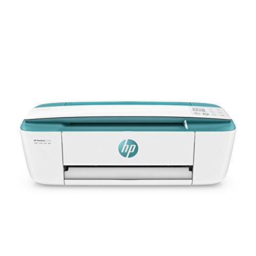 HP DeskJet 3735 T8X10B Stampante Multifunzione a Getto di Inchiostro, Stampa, Scannerizza, Fotocopia, con Wi-Fi e Wi-Fi Direct, 3 Mesi di HP Instant Ink Inclusi, Verde Acqua
