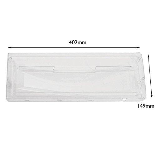 Spares2go transparente cajón cesta solapa delantera para Hotpoint-Ariston frigorífico congelador