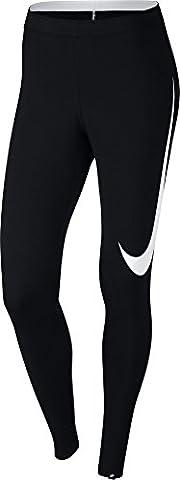 Nike Damen Club Swoosh Tight, Black/White, S