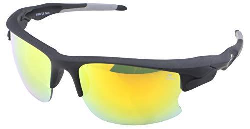 ROADSIGN Sonnenbrille Unisex UV 400 SchutzI Modell Sport I Glasfarbe: gelb