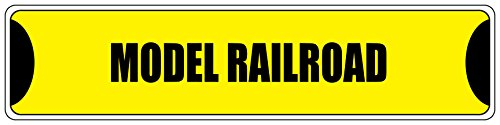 Fastasticdeals Modell Rail Road Gelb 10,2x 45,7cm Aluminium Metall Neuheit Straßenschild
