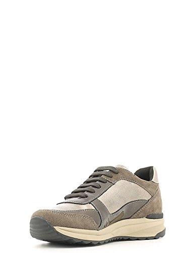 Geox Damen D Airell C Sneakers Braun
