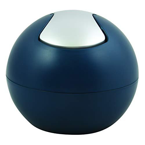Spirella Kosmetikeimer 1 Liter Abfalleimer Schwingdeckeleimer Tischabfalleimer Bowl Petrol matt