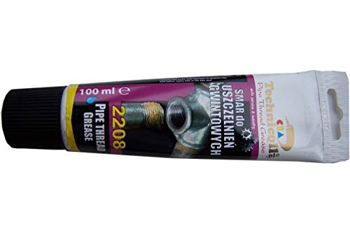 100ml PIPE THREAD GREASE SEALANT 2208 FOR SCREWED JOINTS IN WATER GAS STEAM CENTRAL HEATING INSTALLATIONS NEW TECHNICQLL by Technicqll - Pipe Thread Sealants