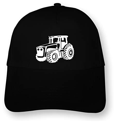 Samunshi Trecker Kinder Kappe Traktor Cap Junior Original 5 Panel Cap OneSize schwarz/weiß
