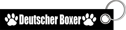 Deutscher Boxer Hund Hunde Hunderasse Pfote Schlüsselanhänger Schlüsselband Keyholder Lanyard