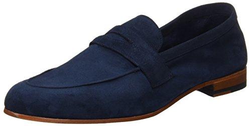 Scalpers Travel Moccasin, Zapatos para Hombre, Navy, 45 EU