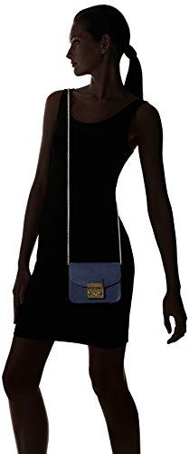Furla Damen Metropolis Mini Crossbody Schultertasche, 7.5 x 12.5 x 17 cm Blau (Navy)