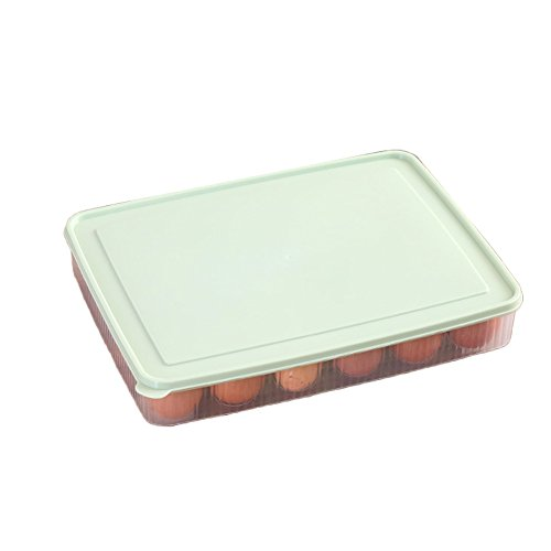 ZqiroLt K¨¹che liefert, K¨¹hlschrank Egg Storage Box 24 Eggs Holder Food Container Plastic Organizer-Green