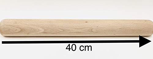 MGI DEVELOPPEMENT Jura, Grand Rouleau à pâtisserie en Bois de hêtre Made in Jura, France, Artisanat Traditionnel Francais, 40 cm de Long, 5 cm de diamè
