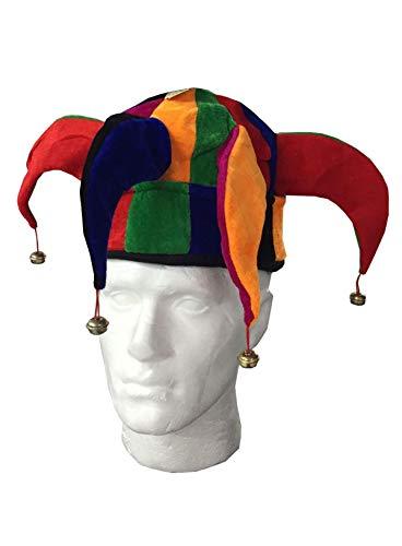 Islander Fashions Herren Damen Cowboy Clown Topper H�te Unisex Stroh Gangster Topper Baretth�te (Jester Hut) Eine ()