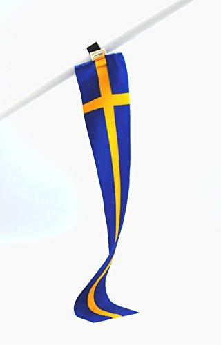 5er-Set Schweden Mini-Flagge, Kleine Deko-Fahne, Fan-Artikel für Fußball u. Handball National-Mannschaft WM EM Eurovision Song Contest oder Dekoration für Schüler-Austausch Messe Urlaub u.v.m.
