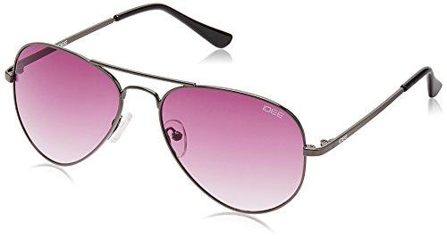 IDEE Aviator Sunglasses (IDS2000C9SG|57|Gun Metal ) image