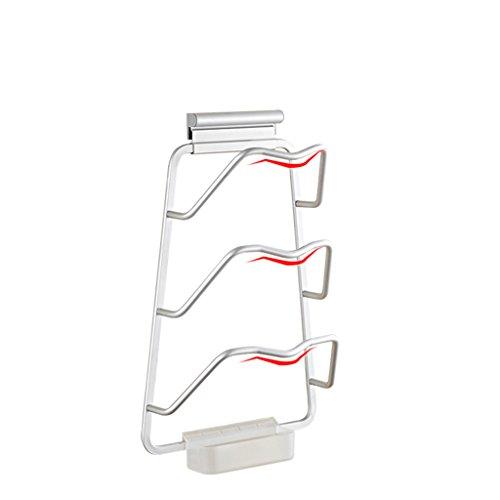 &étagère de rangement Punching Pot Clip Rack de stockage avec plateau d'eau Wall Hanging Shelf Fournitures de cuisine Pendentif étagère Rack de finition (Edition : B, Size : 23 * 37CM)