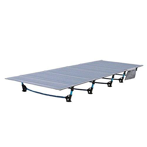 Hukoer - letto pieghevole da viaggio all' aperto letto hiker brandina, lega di alluminio ultra-leggero sacco letto per campeggio, escursionismo, pesca 200 kg cuscinetto con superficie