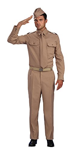 Kostüm Für 2 Erwachsene Weltkrieg - Bristol Novelty AC983 Zweiter Weltkrieg Soldat Kostüm