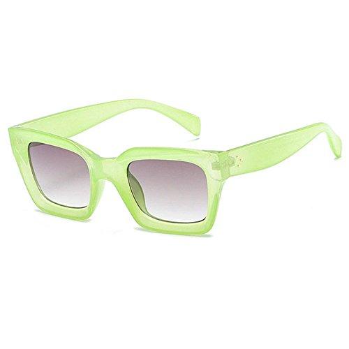 Aoligei Fashion Jelly Frame Männer rechteckige Sonnenbrille europäischen Trend Sonnenbrille Damen Runde Gesicht Sonnenbrille -