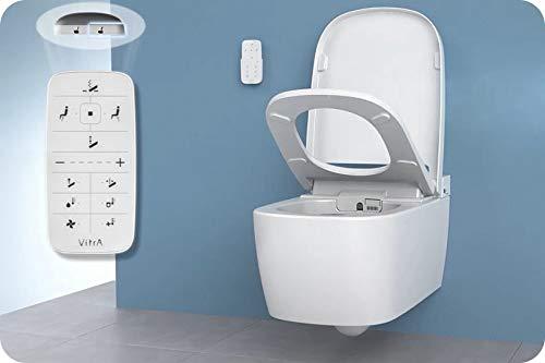 Vitra V-Care Basic Spülrandloses Dusch Wand-WC mit Taharet/Bidet Aqua Clean