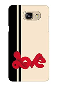 AMAN Love in Red 3D Back Cover for Samsung Galaxy A5 2016