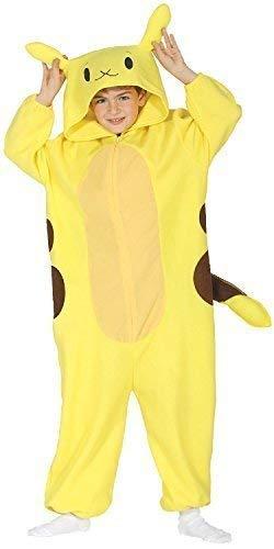 Fancy Me Kinder Mädchen Jungen Kinder Elektrischer Chinchilla Gelb Spieler Tier Japan Cosplay Halloween Karneval Fest Alles in Eins Kostüm Kleid Outfit 3-12 Jahre - Gelb, 7-9 Years (Chinchilla Kostüm Halloween)