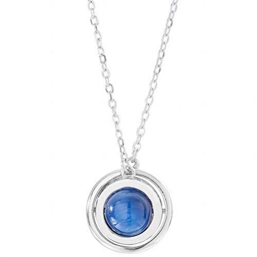 katylen - necklace S925 Satellite en Argent Sterling Planète Planète Collier Femelle Sauvage Chaîne Créative Pull Bleu, a