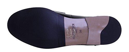 Justin Reece 8800pour femme en cuir Matt Bottes Noir - Black Patent FC1
