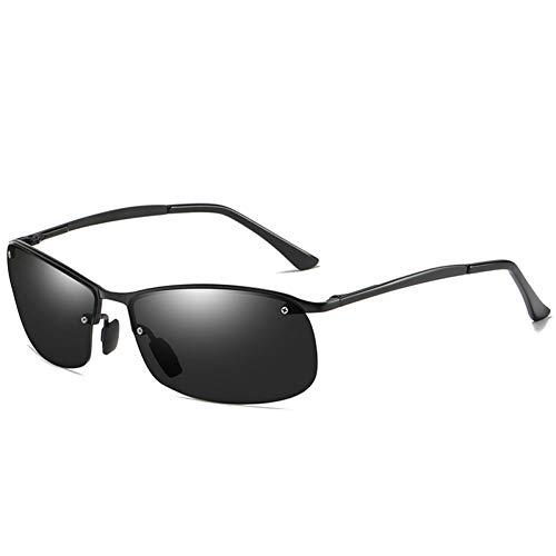 WZYMNTYJ Brand Design Polarisierte Sonnenbrille Männer Ultraleichte Metall Halbrandlose Rahmen Männliche Sonnenbrille Fahren Brillen