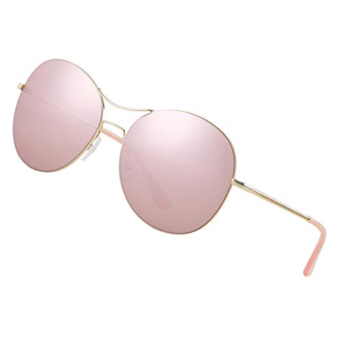 Elegear Sonnenbrille Herren polarisiert Sonnenbrille Damen Unisex Pilotenbrille, Legendäre-Collection, Metallrahmen 100% UV400 Schutz mit Beeindruckende Farbverstärkung und Klarheit