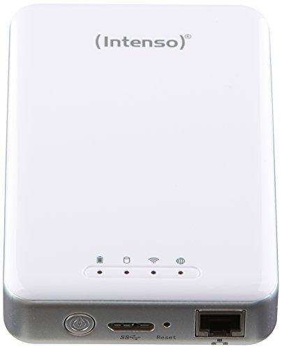 Intenso Memory 2 Move Pro Externe Festplatte mit integriertem Kartenlesegerät 1TB (6,4 cm (2,5 Zoll), 5400rpm, 8MB Cache, WiFi, USB 3.0) weiß