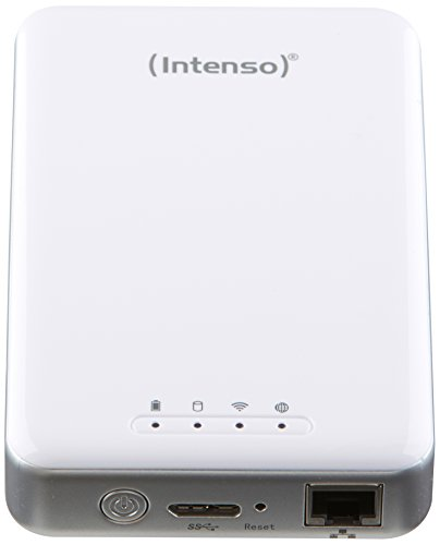 festplatte mit bluetooth Intenso Memory 2 Move Pro Externe Festplatte mit Integriertem Kartenlesegerät 1TB (6,4 cm (2,5 Zoll), 5400rpm, 8MB Cache, Wifi, USB 3.0) weiß